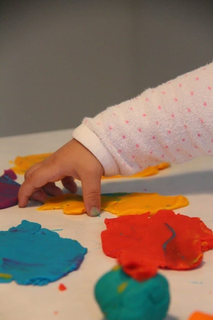 Toddler Play Doh Colors