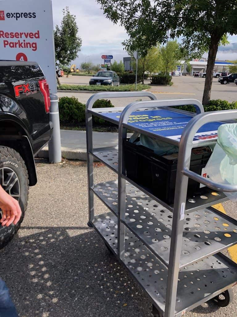 PC Express Grocery Pickup Cart