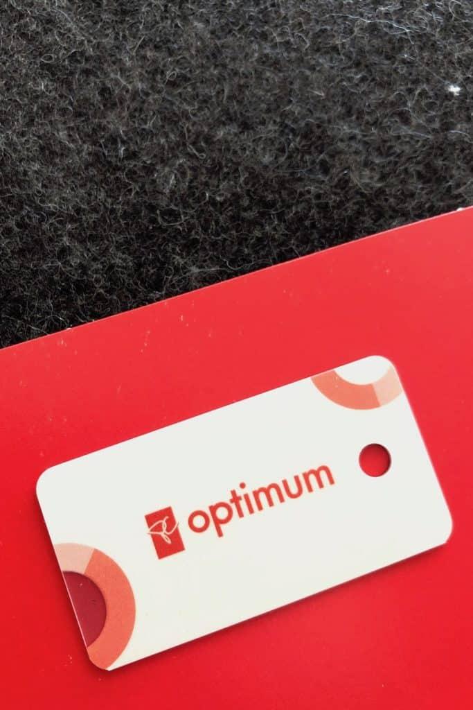 PC Optimum Mini Keychain Loyalty Points Card