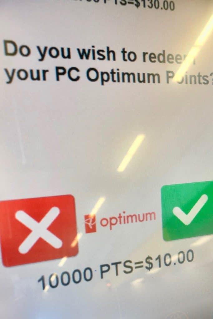 Redeeming PC Optimum Points