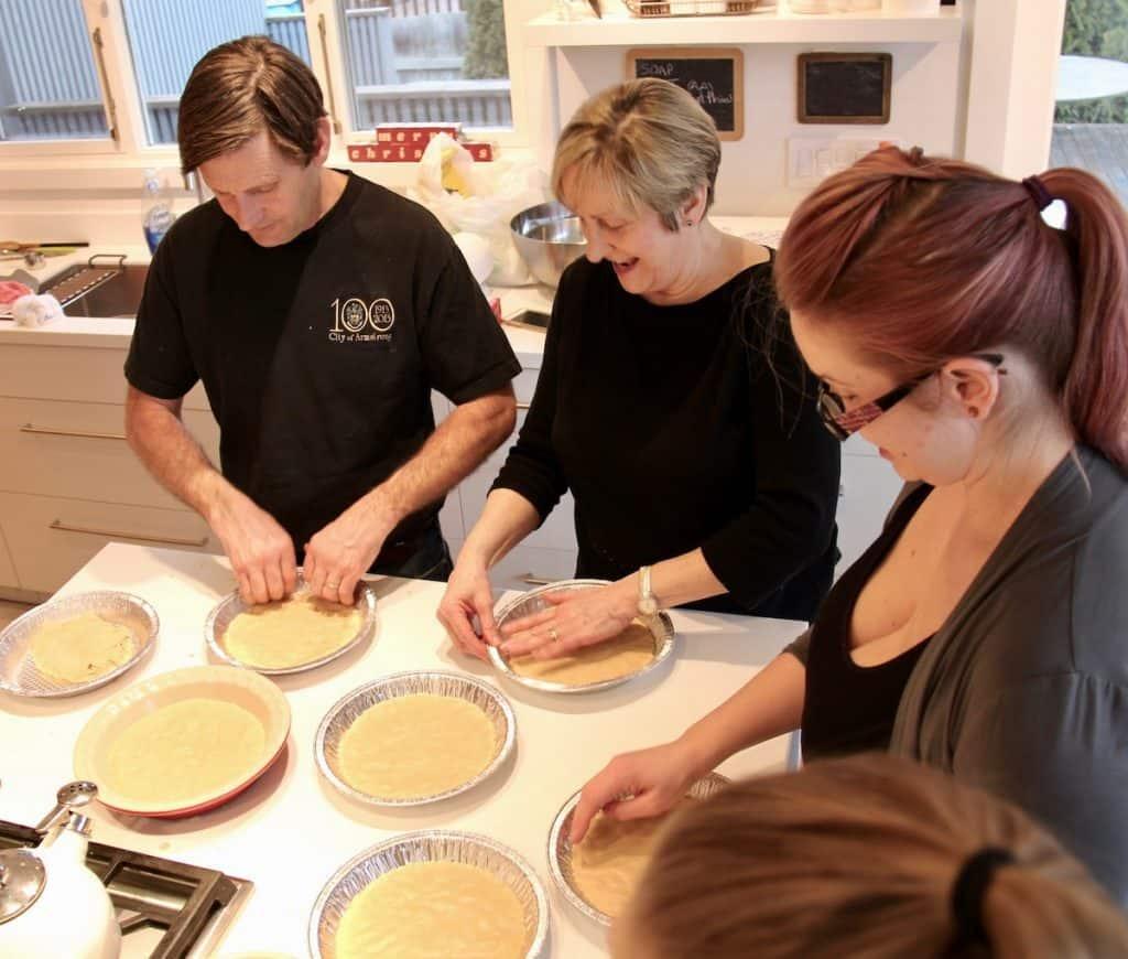 Family Making Scottish Shortbread