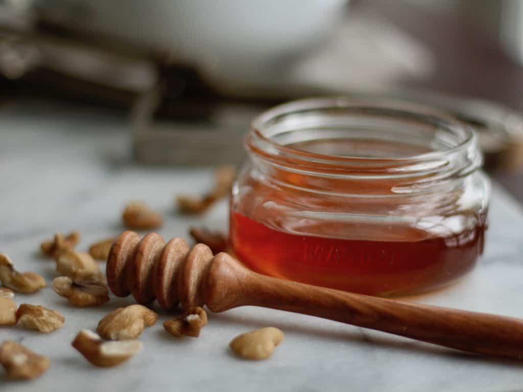 Honey Pot with Black Walnuts