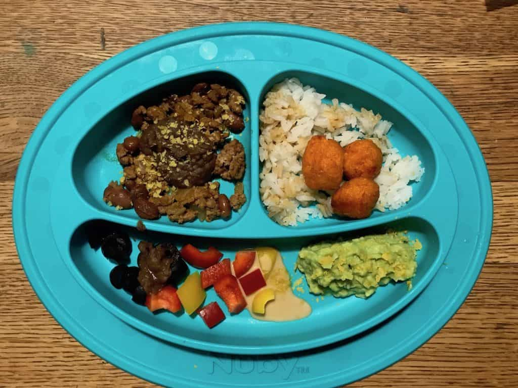 Mexican Food for Toddlers - Example of Plate