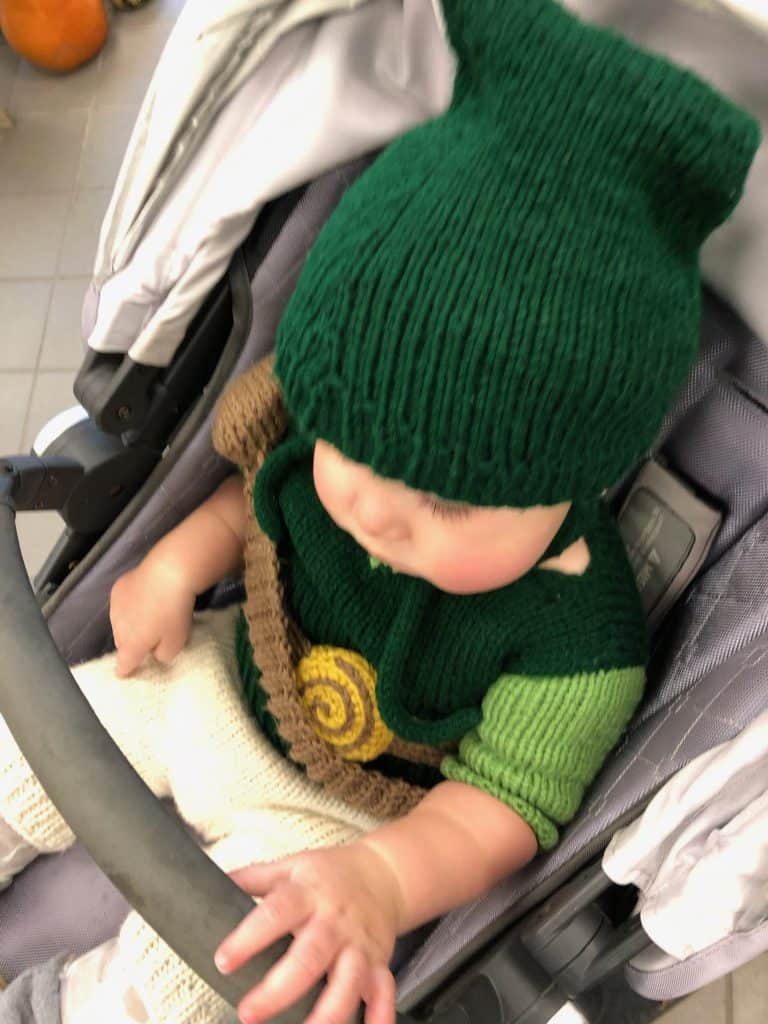 Baby Link from Legend of Zelda - Knitted Handmade Halloween Costume