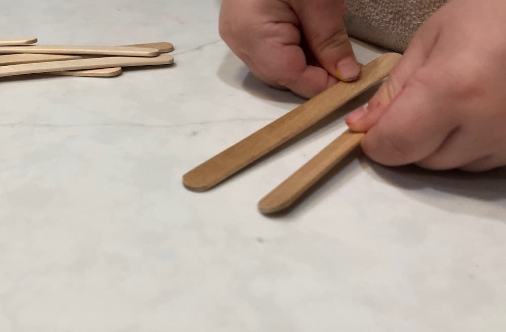 Counting popsicle sticks