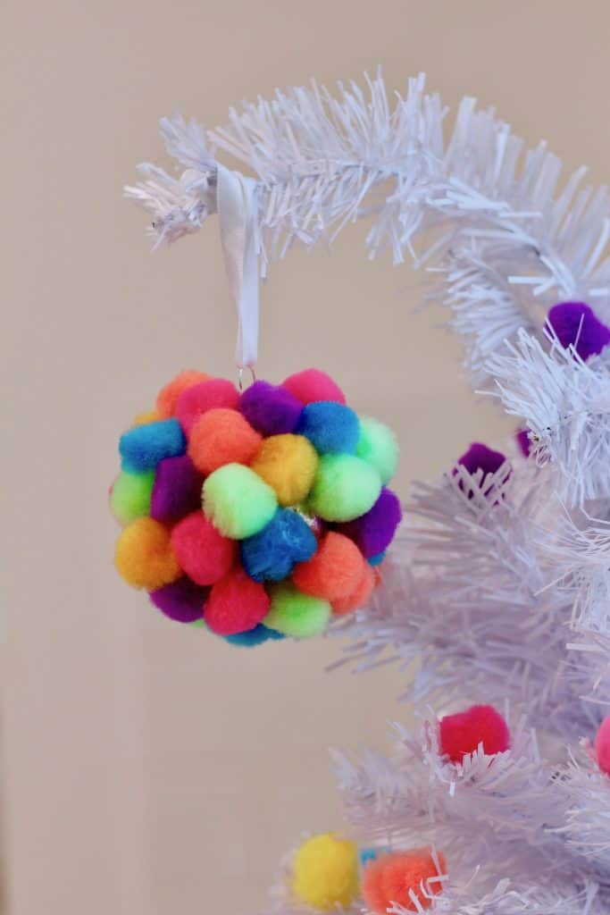Easy Kids Pom Pom Ornament Craft Activity