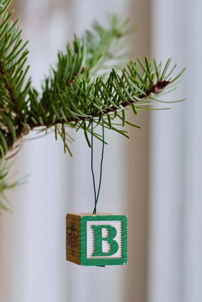 How to Make an Alphabet Block into a Letter Ornament