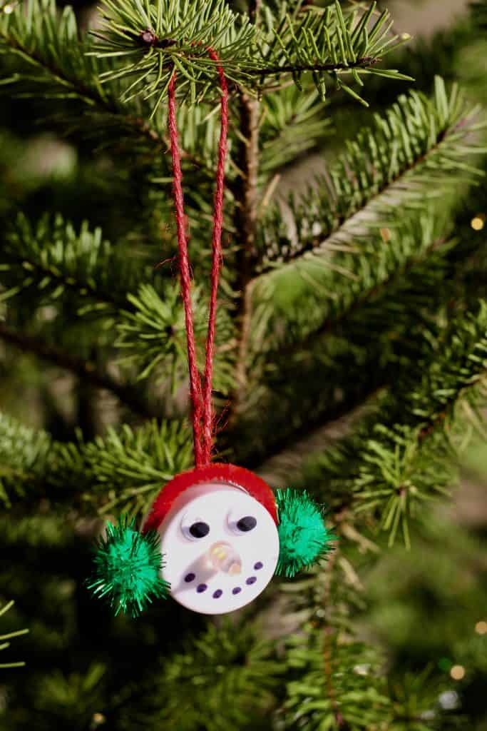 Kids Craft Preschool Snowman Ornament Activity