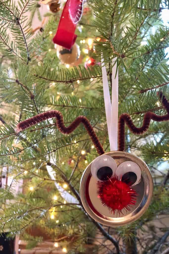 Reindeer Ornament Craft for Preschoolers