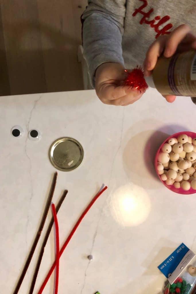 Supplies for Preschool Reindeer Craft