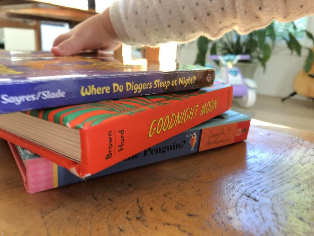 Stack of Books for One Year Old Child to Read