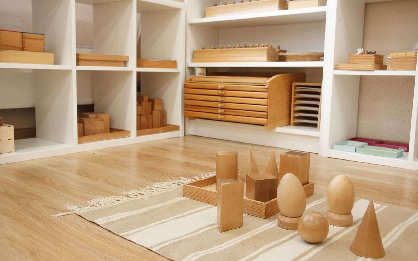 Montessori furniture in toddler classroom