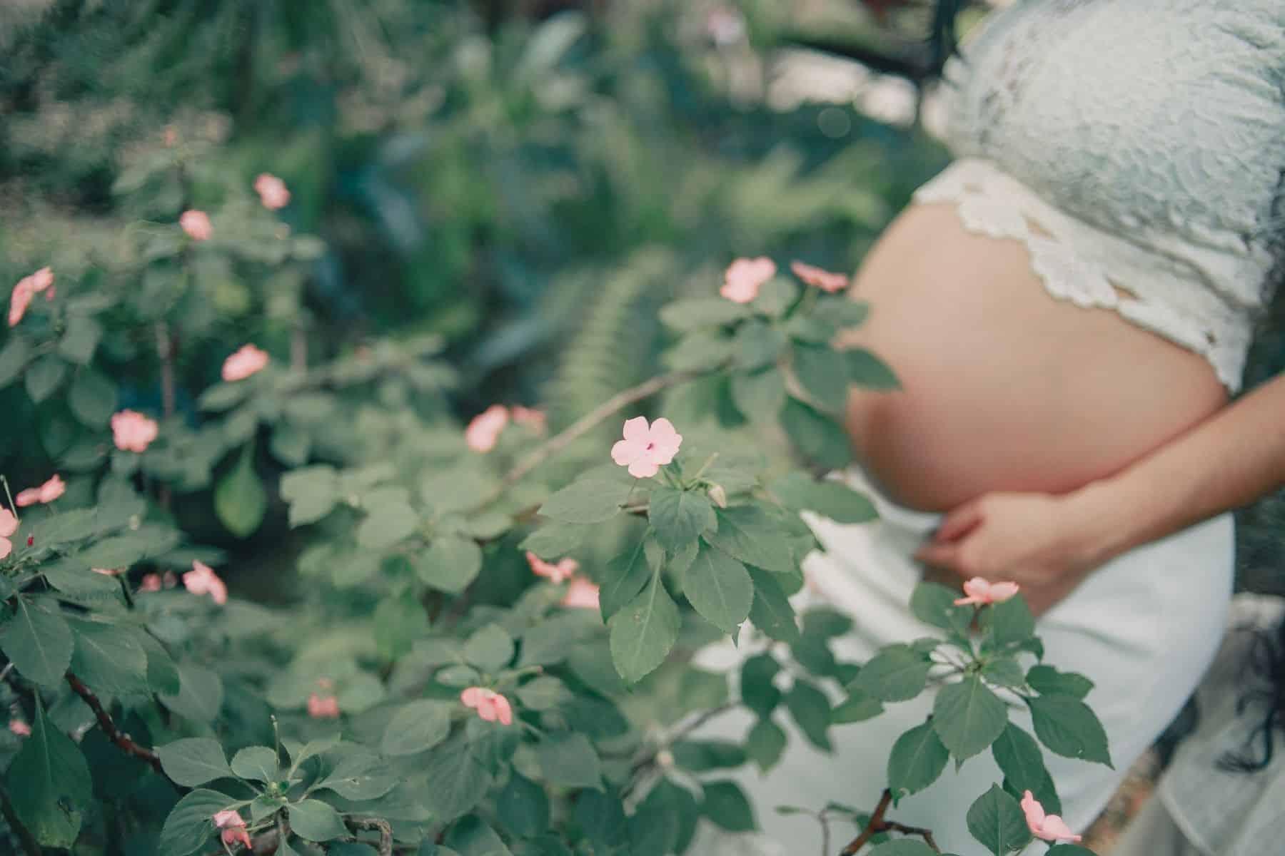 maternity photos - in the flower garden