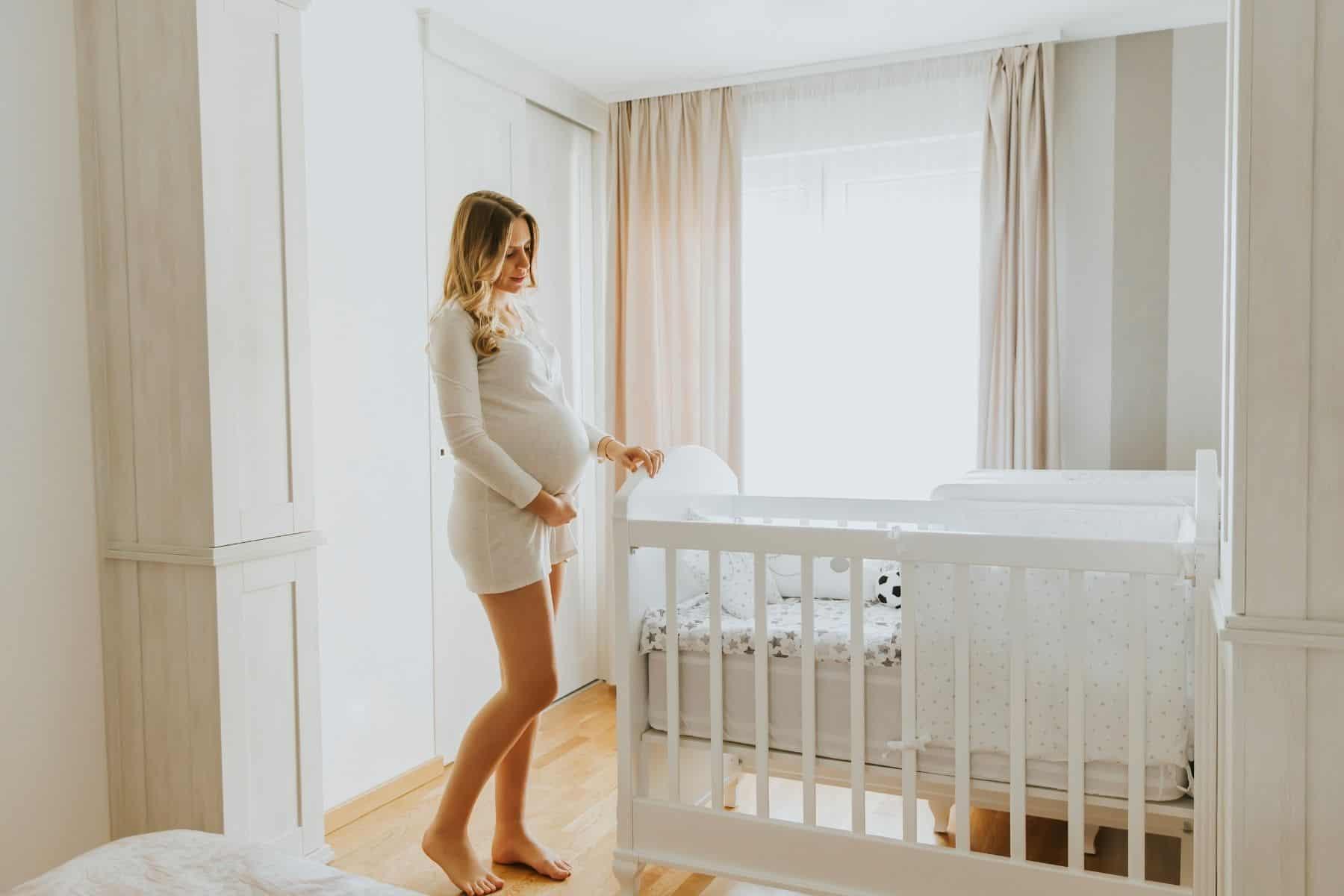 maternity photos - nursery