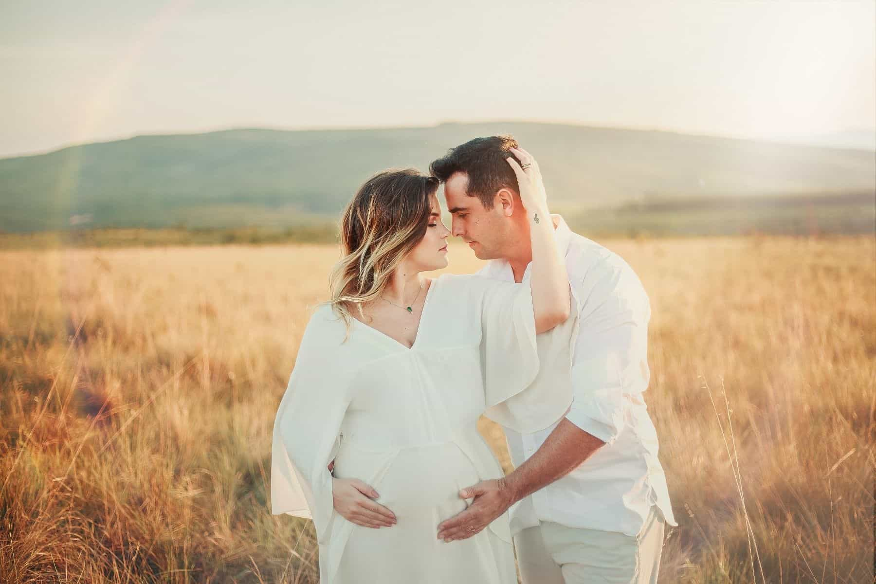 maternity photos - with dad