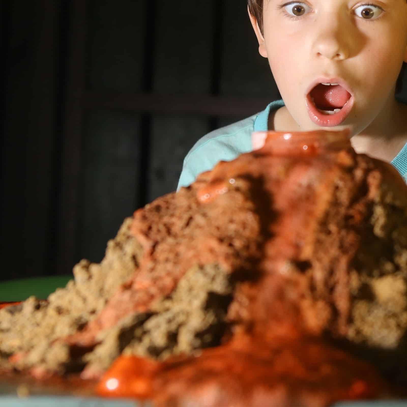 preschool volcano science activity