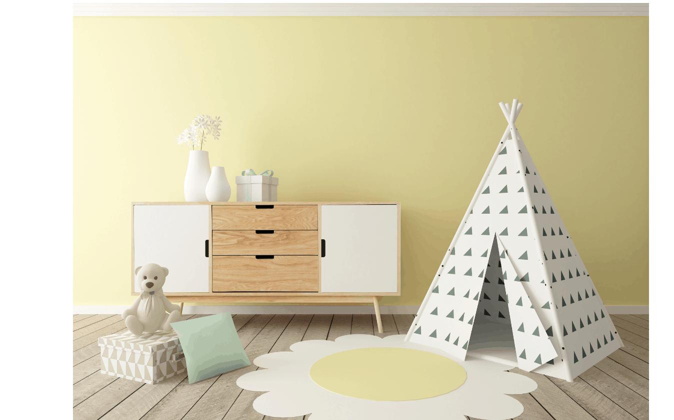 Montessori Playroom with shelf and tent