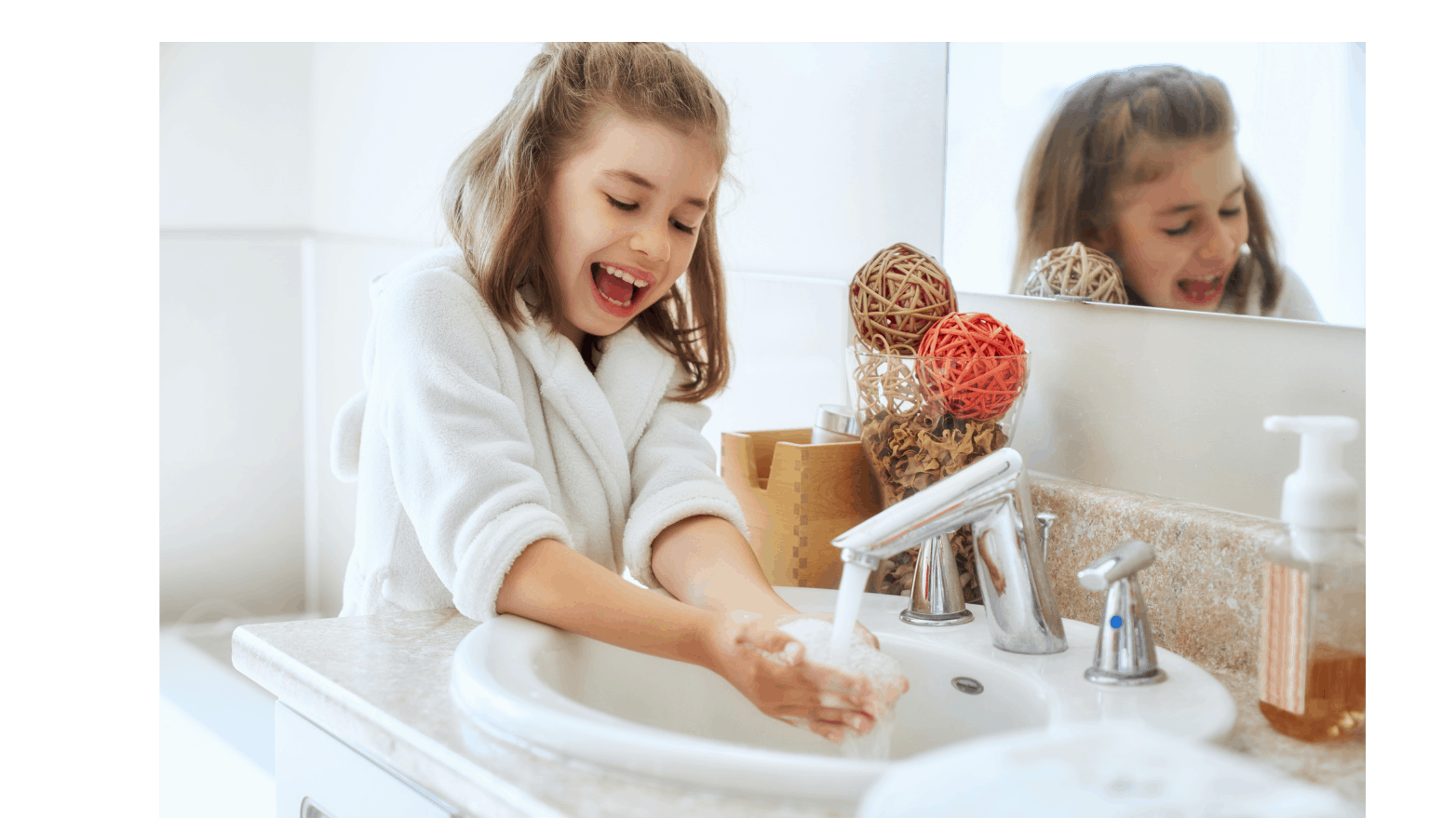 teaching children about hand washing on their own